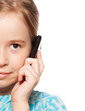Girl, talking on the phone Stock Photography