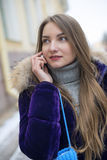 Girl talking on the phone. Stock Photo
