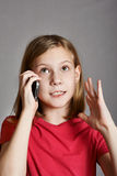 Girl talking on phone royalty free stock photos