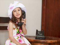 Girl talking on phone Royalty Free Stock Image