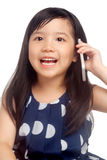 Girl talking on phone Stock Image