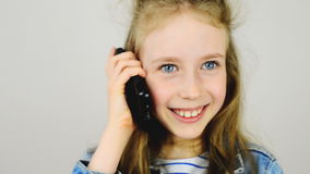 Girl talking on the phone. stock video footage