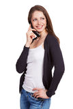 Girl talking to someone on the phone Royalty Free Stock Image