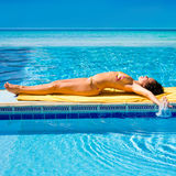 Girl tanning Royalty Free Stock Photography