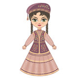 The girl in  Tatar dress. Historical clothes. Stock Photography