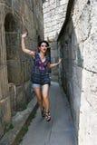 Girl in Tatev monastery Stock Photos