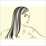 Girl with tattoo Royalty Free Stock Photo