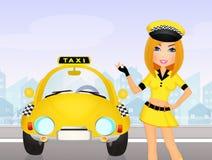 Girl Taxi driver Stock Photos