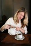 Girl with tea Royalty Free Stock Photos