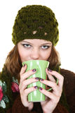 Girl and tea Royalty Free Stock Photo