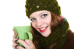 Girl and tea Royalty Free Stock Photos