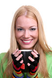 Girl with a tea cup Royalty Free Stock Photos