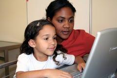Girl and Teacher