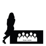 Girl with teamwork  Royalty Free Stock Photography