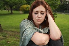 Girl in tears Royalty Free Stock Photos