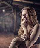 Girl in tears Stock Photos