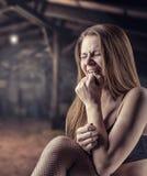 Girl in tears Stock Photos