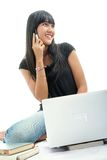 Girl and technology Stock Images