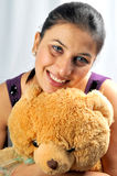 Girl with teddy Royalty Free Stock Images