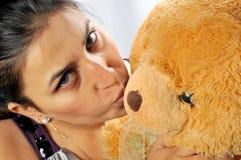 Girl with teddy Stock Photo