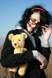 Girl with teddy Stock Photo