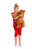 Girl with teddy-bear Stock Photography