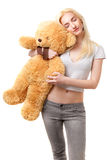 Girl with Teddy bear Stock Photo