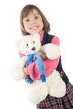 Girl with Teddy Bear Stock Photography