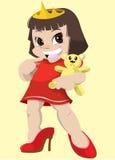 Girl with teddy bear Stock Photo