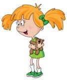 Girl with teddy bear Royalty Free Stock Photo