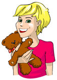 The girl with teddy-bear Royalty Free Stock Photo