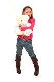 Girl with teddy bear. Royalty Free Stock Image
