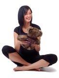 Girl And Teddy Bear Stock Photos