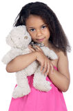 Girl with teddy bear Royalty Free Stock Photo