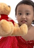 Girl with teddy bear Royalty Free Stock Photos