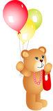 Girl teddy bear with balloons Royalty Free Stock Image