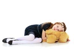 Girl with a Teddy bear. Stock Image