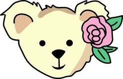 GIRL TEDDY BEAR HEAD Royalty Free Stock Photo