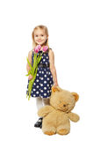 Girl and teddy bear Stock Photo