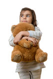 Girl with teddy bear Stock Photos