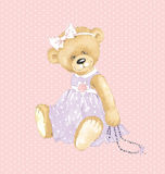 Girl Teddy Bear Stock Photography