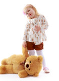 Girl with a Teddy bear Stock Photo
