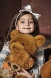 Girl with teddy bears Royalty Free Stock Photos