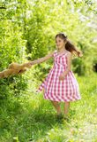 Girl with teddy Royalty Free Stock Photos