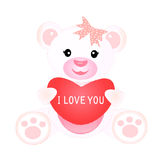 Girl teddy with heart Royalty Free Stock Photos