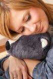 Girl and Teddy Stock Image