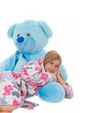 Girl with teddybear Royalty Free Stock Images