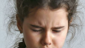 Girl teen depression crying tears. Flow stock footage