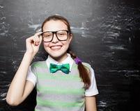 Girl teen near blackboard Stock Images
