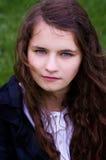 Girl teen outdoors closeup Stock Photo